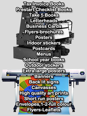 For for all your Printing needs call Ken Merry at Record Printing - your Capricorn Coast